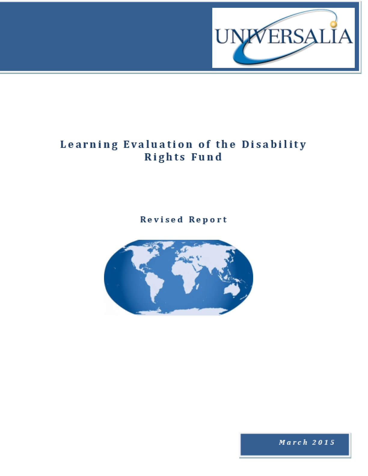 Learning Evaluation of the Disability Rights Fund