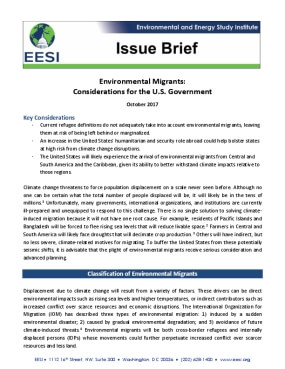 Environmental Migrants: Considerations for the U.S. Government