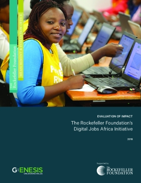 Evaluation of Impact: The Rockefeller Foundation's Digital Jobs Africa Initiative