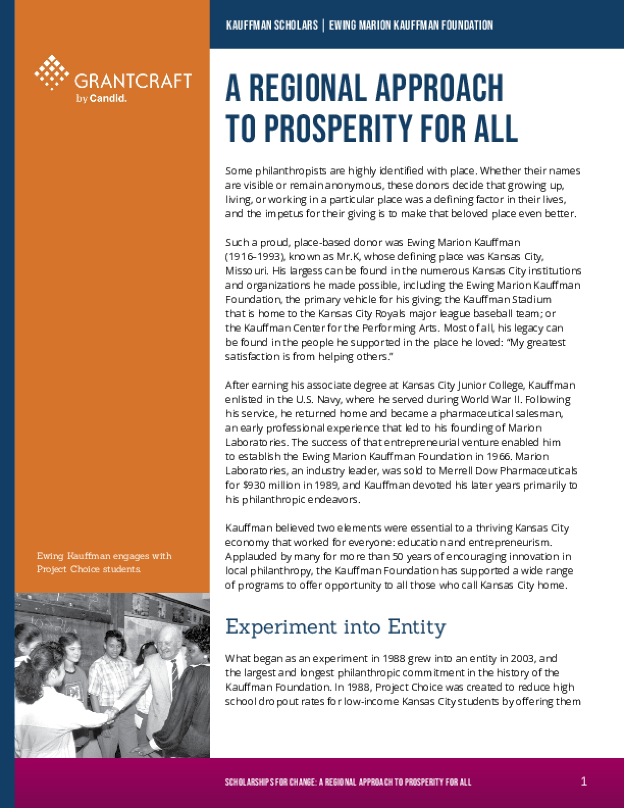A Regional Approach to Prosperity for All