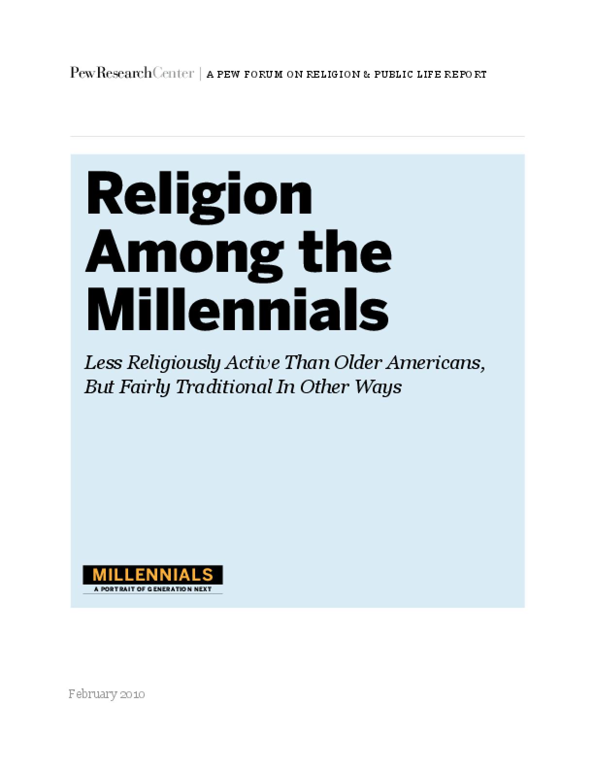 Religion Among the Millennials