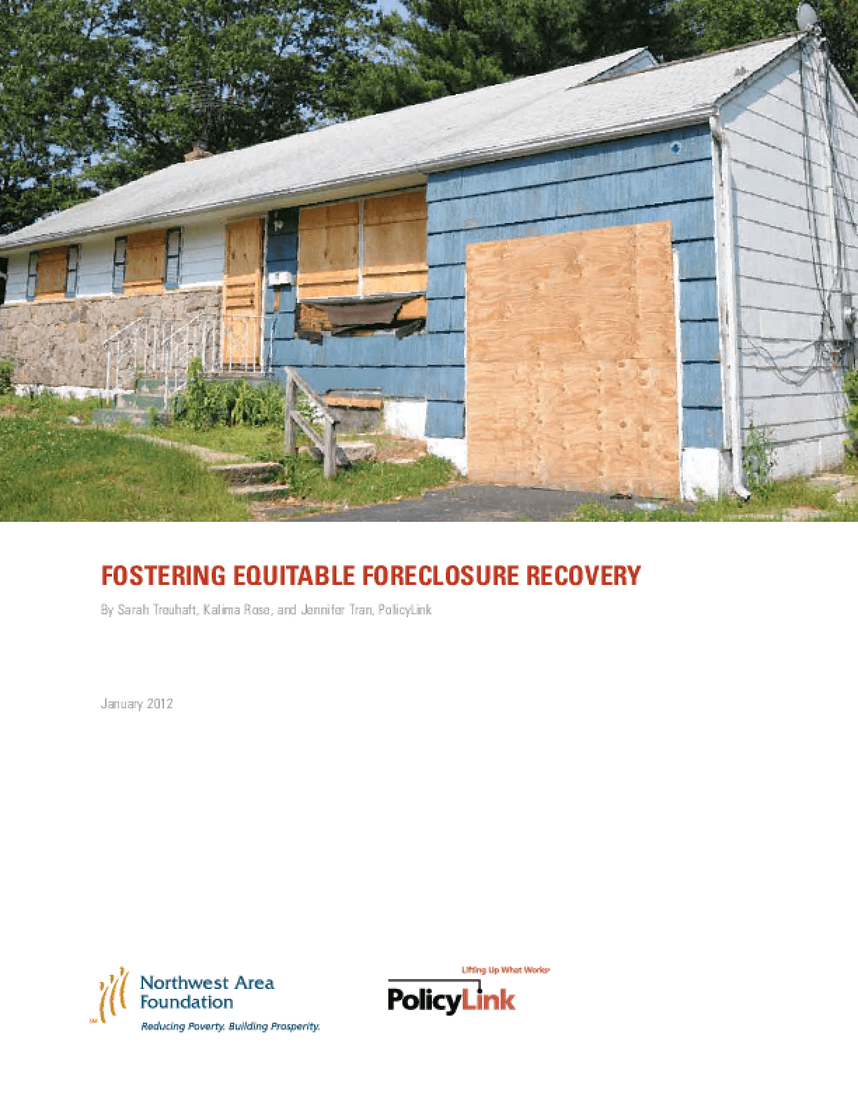 Fostering Equitable Foreclosure Recovery