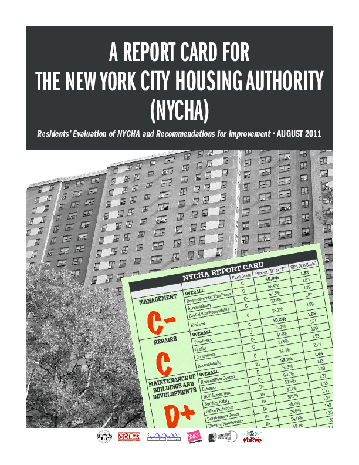 A Report Card for the New York City Housing Authority (NYCHA): Residents' Evaluation of NYCHA and Recommendations for Improvement