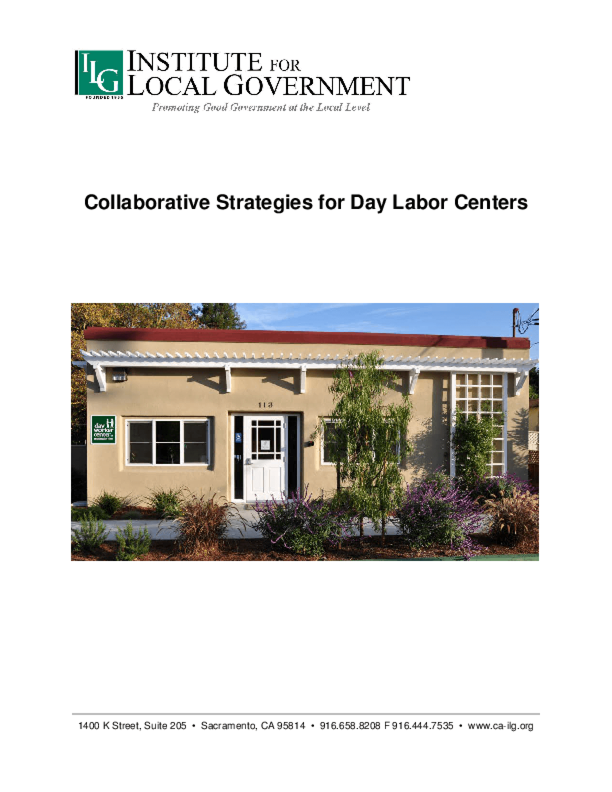 Collaborative Strategies for Day Labor Centers