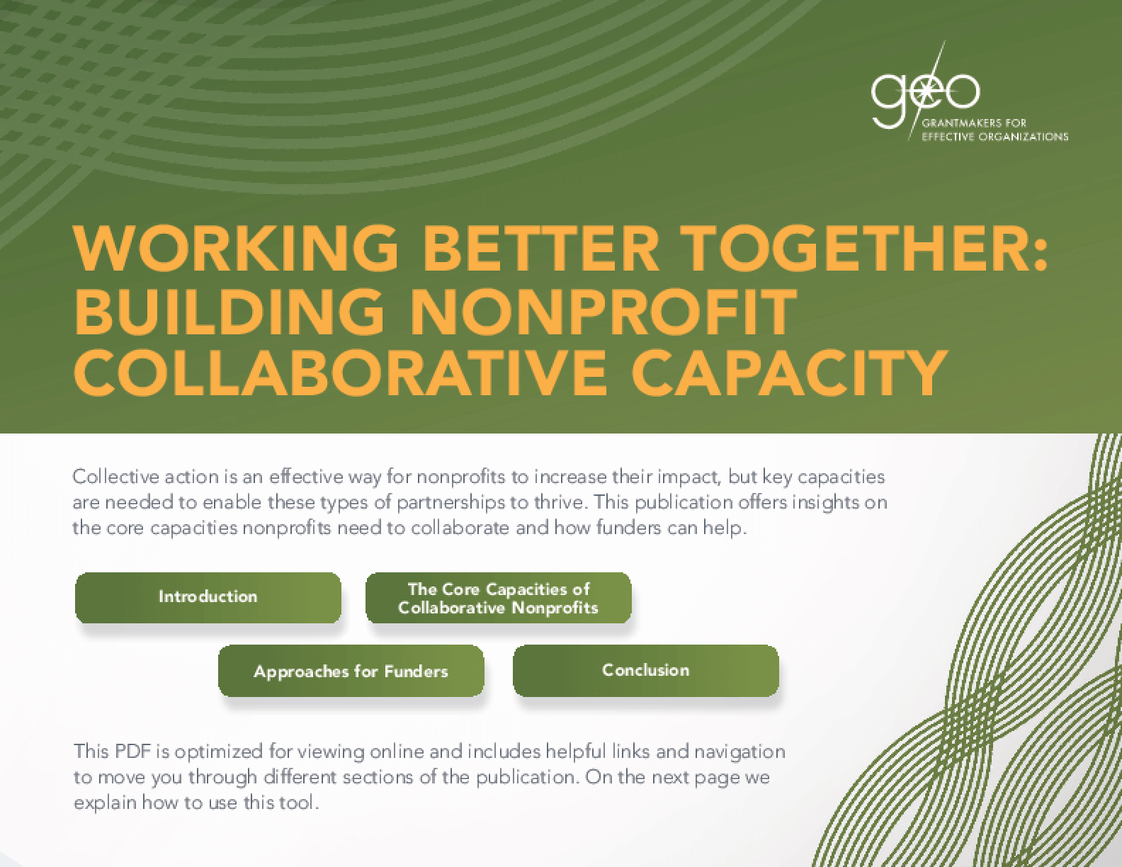 Working Better Together: Building Nonprofit Collaborative Capacity
