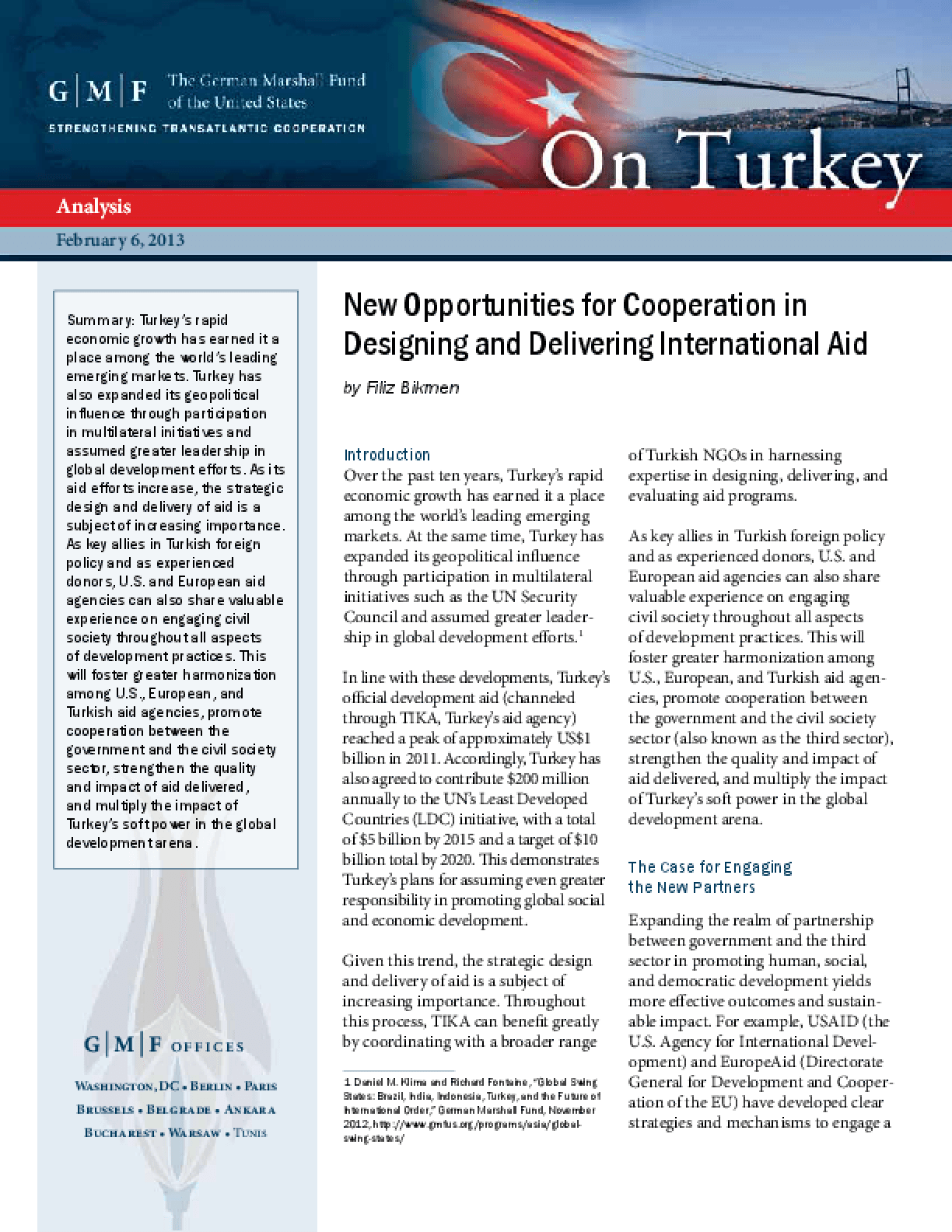 New Opportunities for Cooperation in Designing and Delivering International Aid