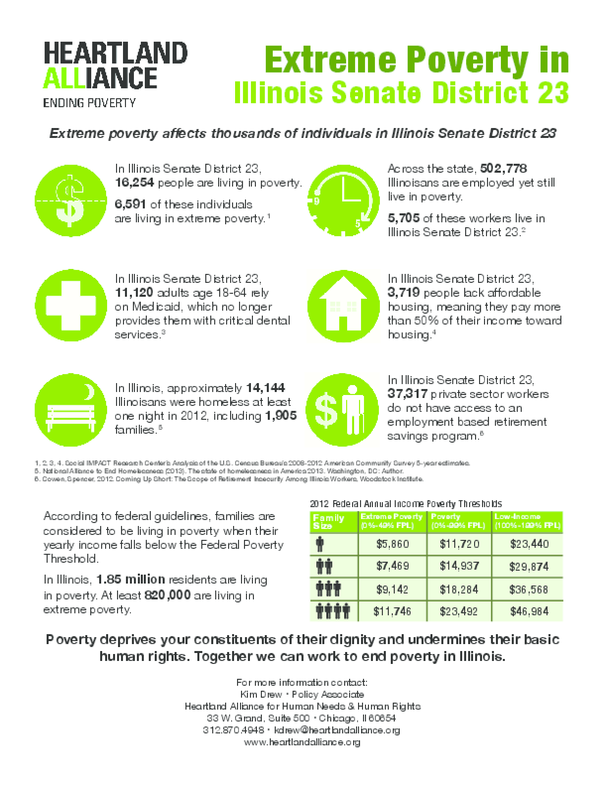 Poverty Fact Sheet for Illinois Senate District 23