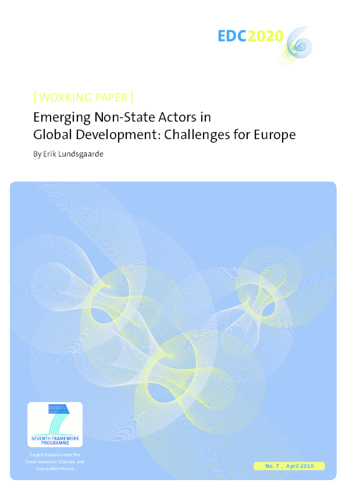 Emerging Non-state Actors in Global Development: Challenges for Europe