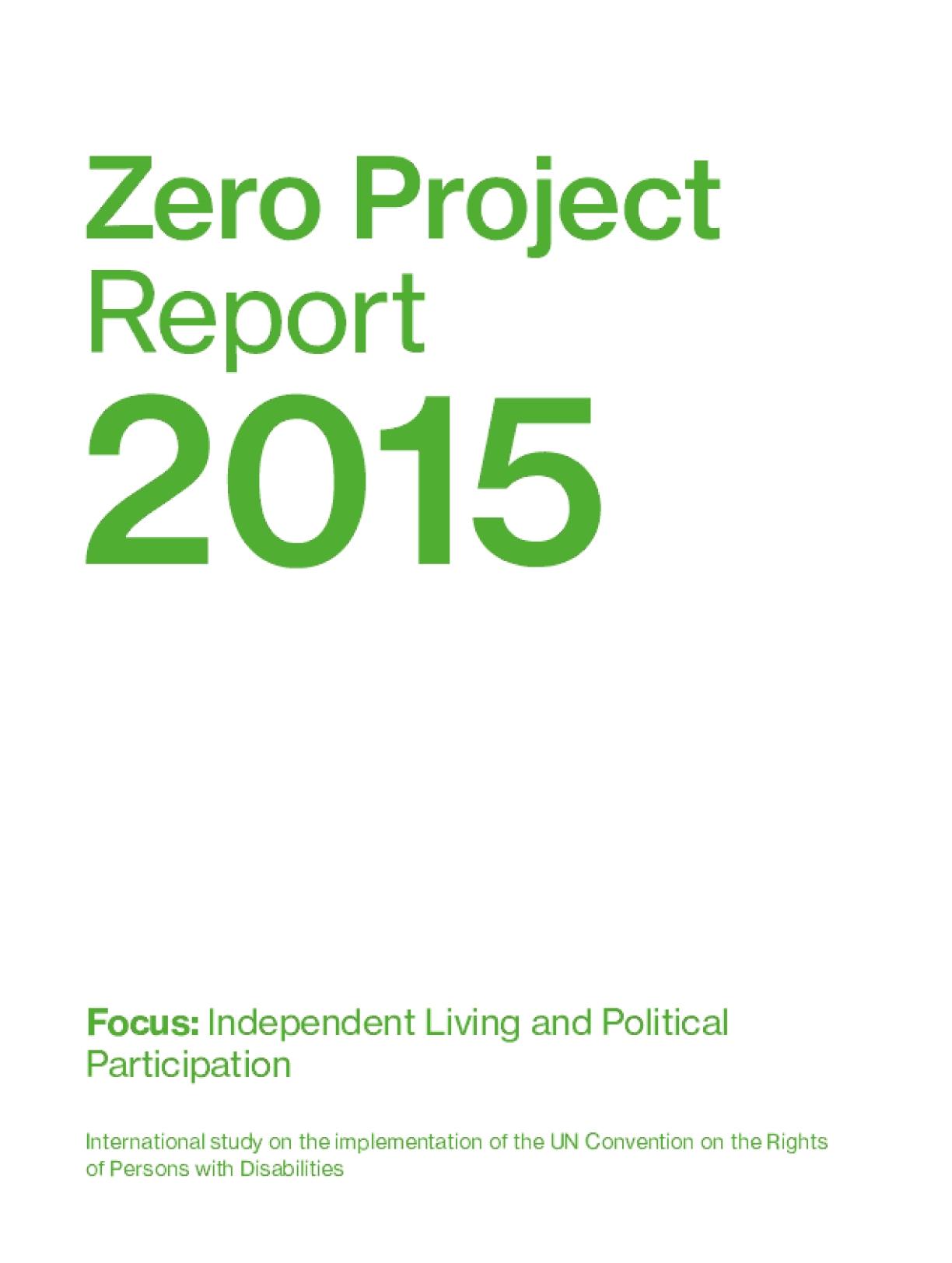 Zero Project Report 2015