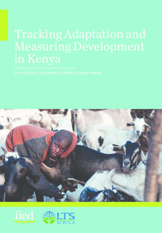 Tracking Adaptation and Measuring Development in Kenya