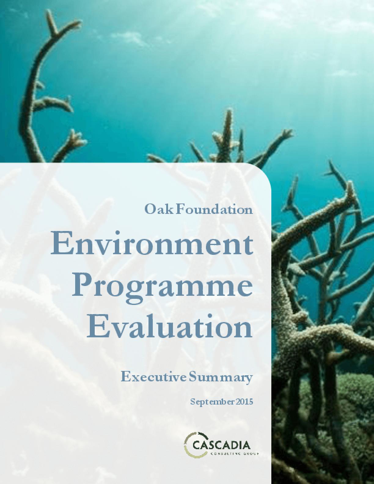 Oak Foundation Environment Programme Evaluation: Executive Summary