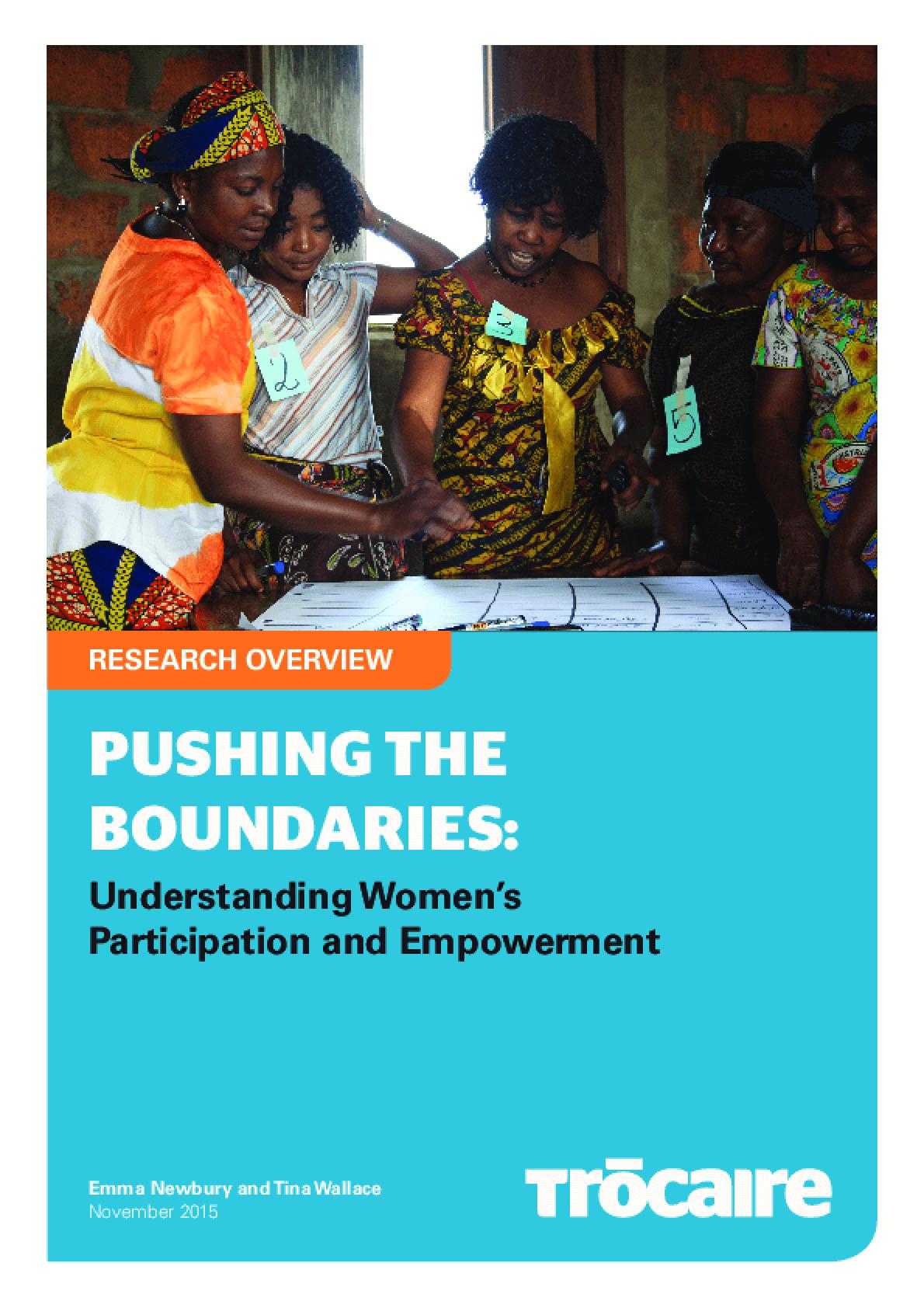Pushing the Boundaries: Understanding Women's Participation and Empowerment