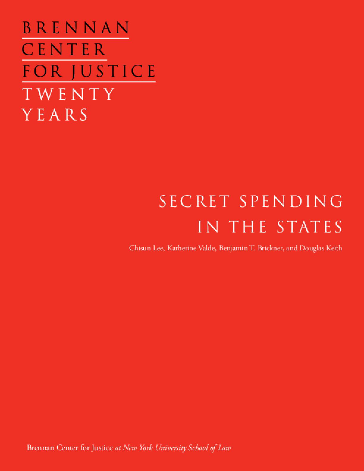 Secret Spending in the States