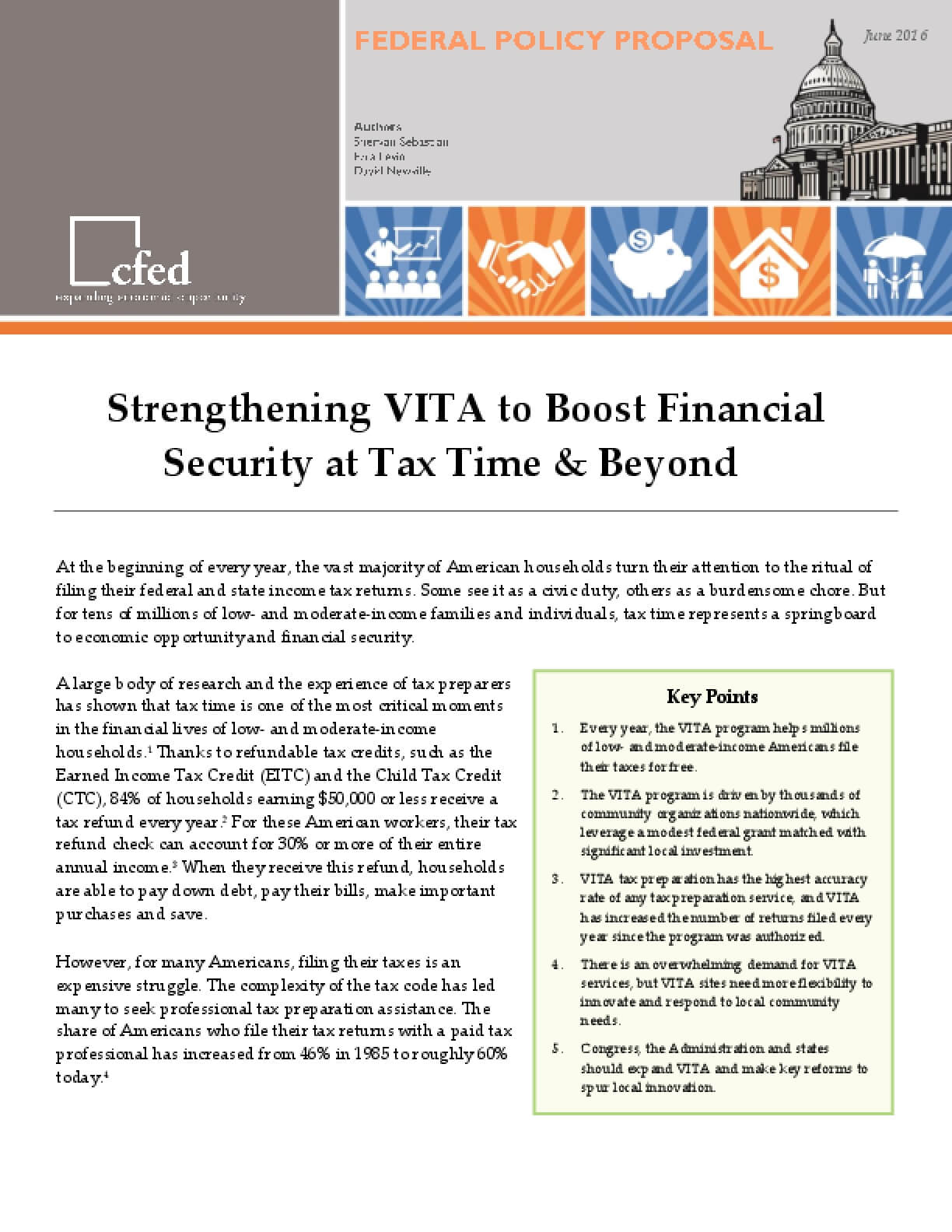 Strengthening VITA to Boost Financial Security at Tax Time and Beyond