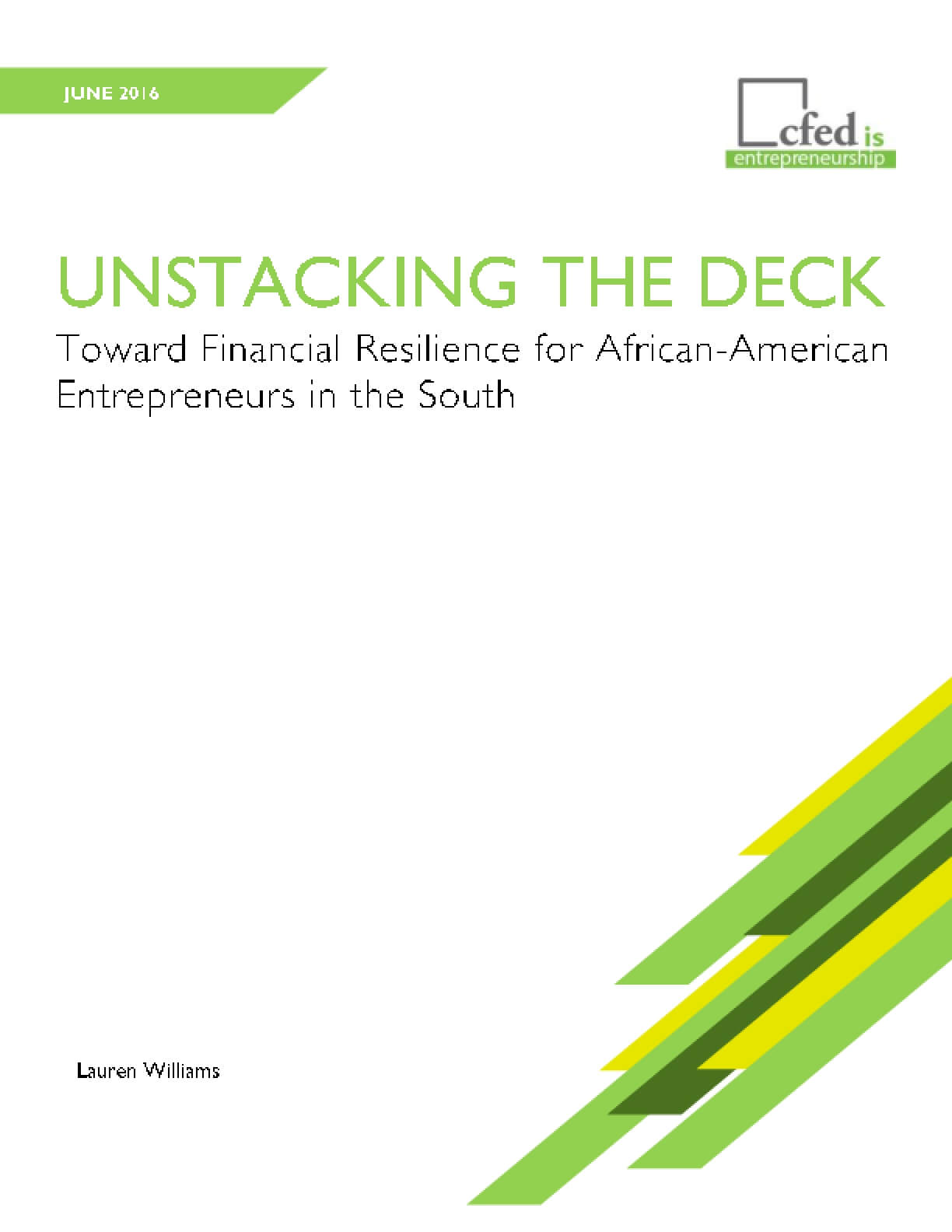 Unstacking the Deck: Toward Financial Resilience for African-American Entrepreneurs in the South