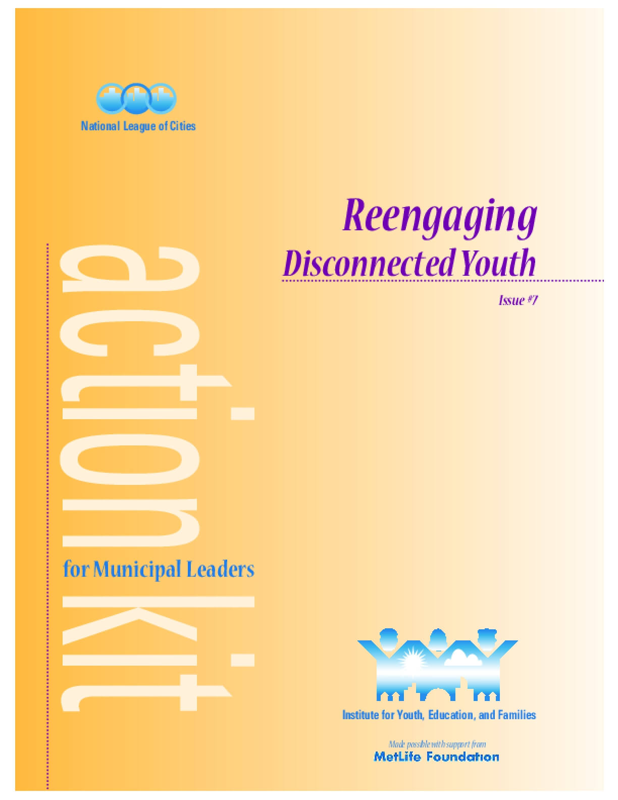 Reengaging Disconnected Youth: Action for Municipal Leaders