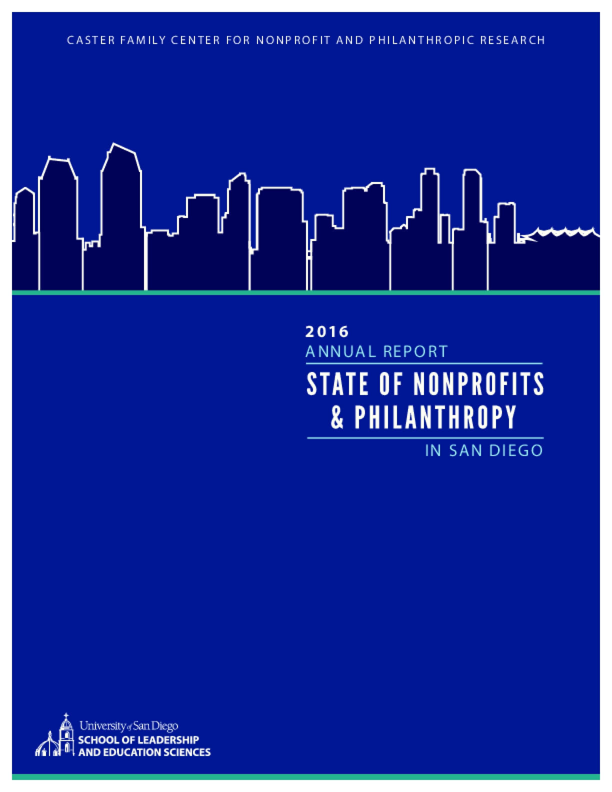 2016 Annual Report: State of Nonprofits and Philanthropy - In San Diego