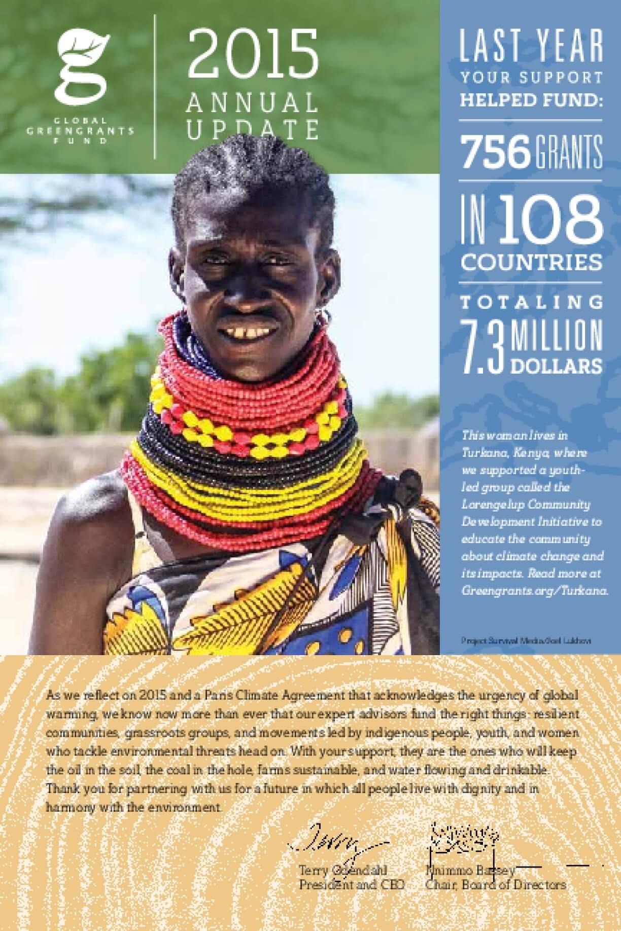 Global Greengrants Fund 2015 Annual Update