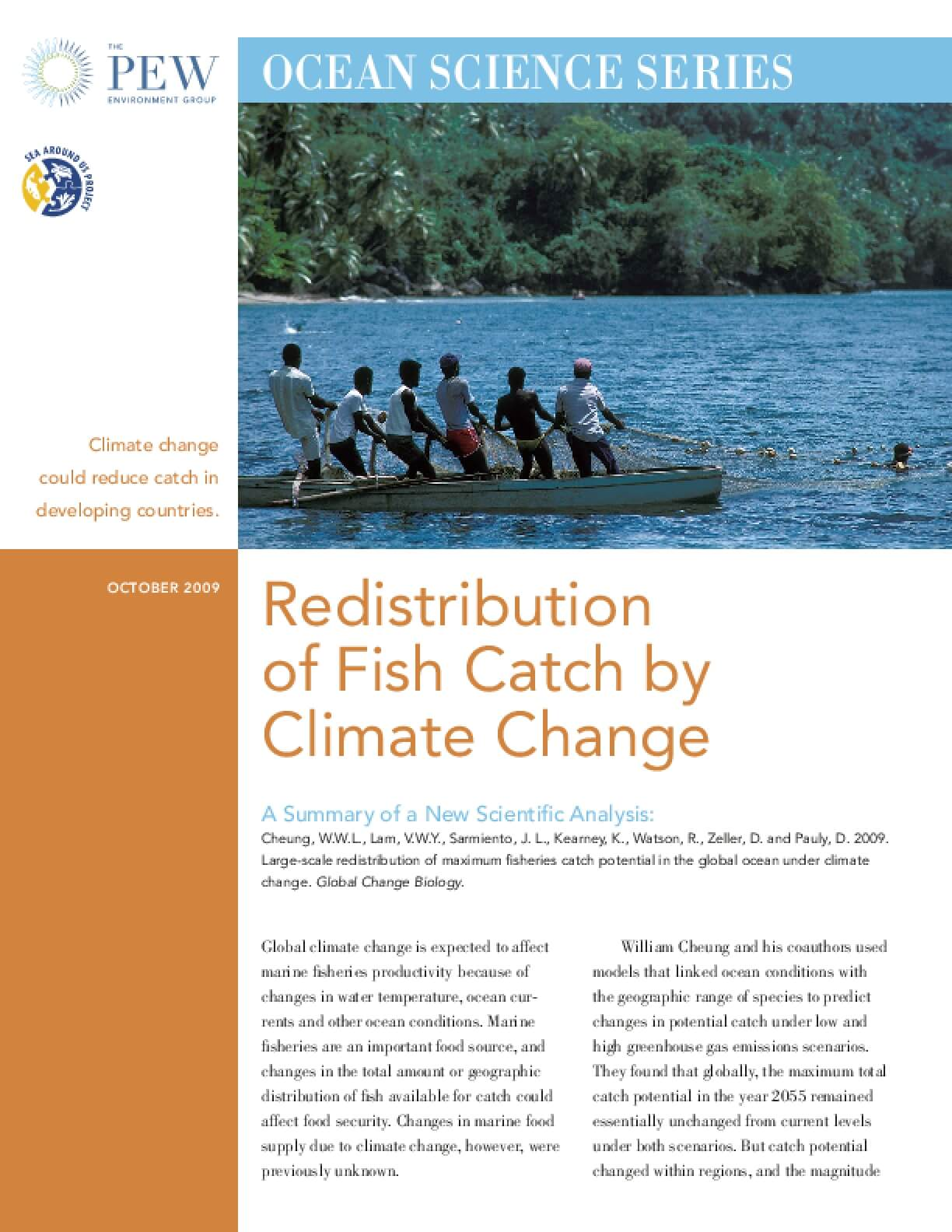 Ocean Science Series: Redistribution of Fish Catch by Climate Change