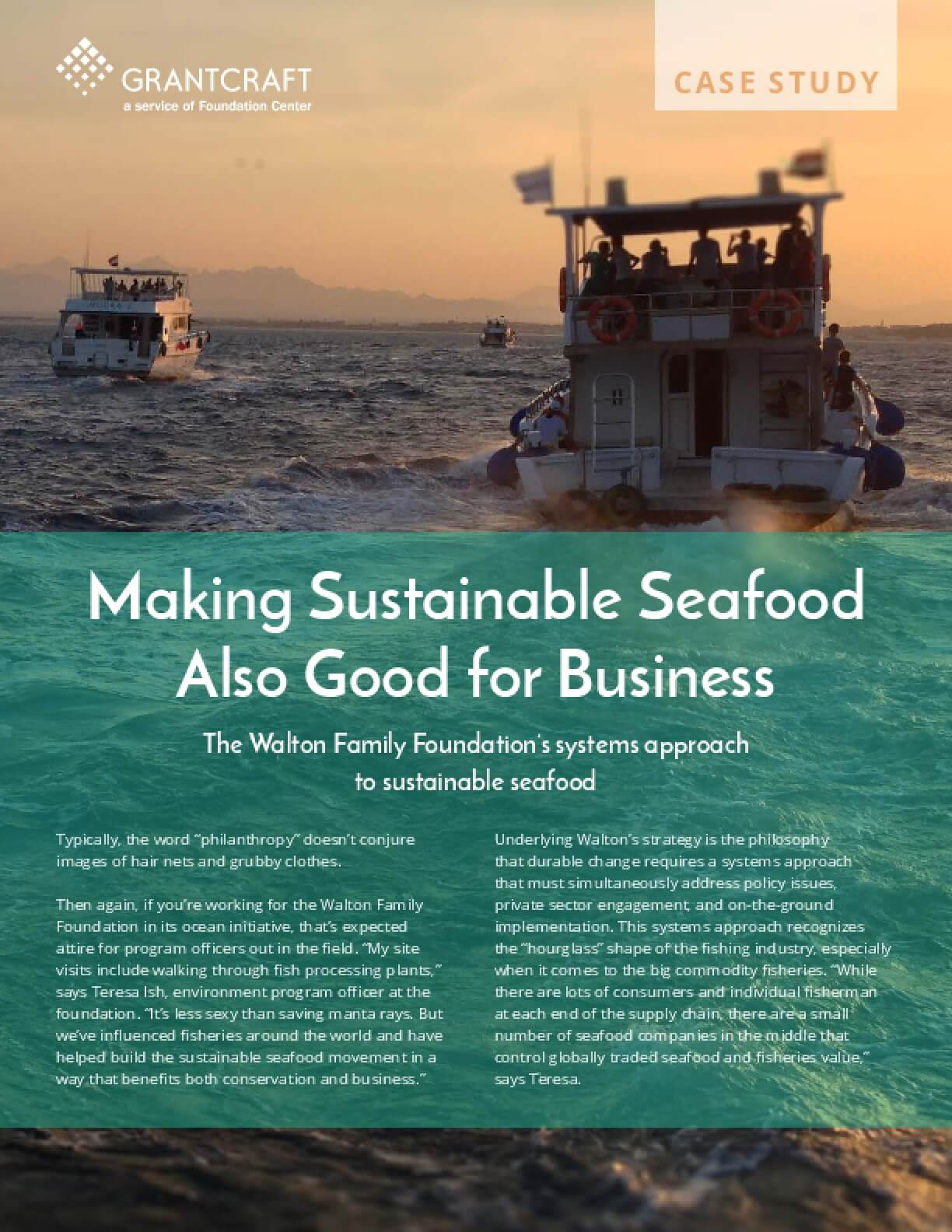 Making Sustainable Seafood Also Good for Business