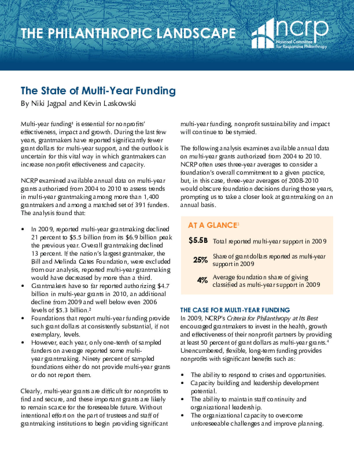The State of Multi-year Funding