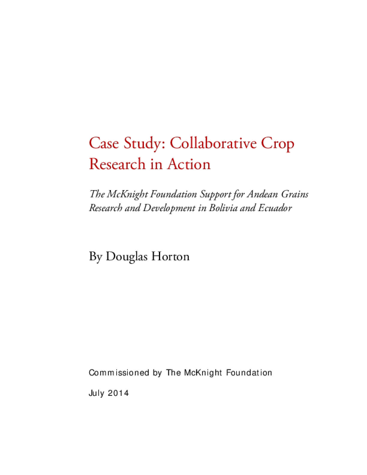 Case Study: Collaborative Crop Research in Action
