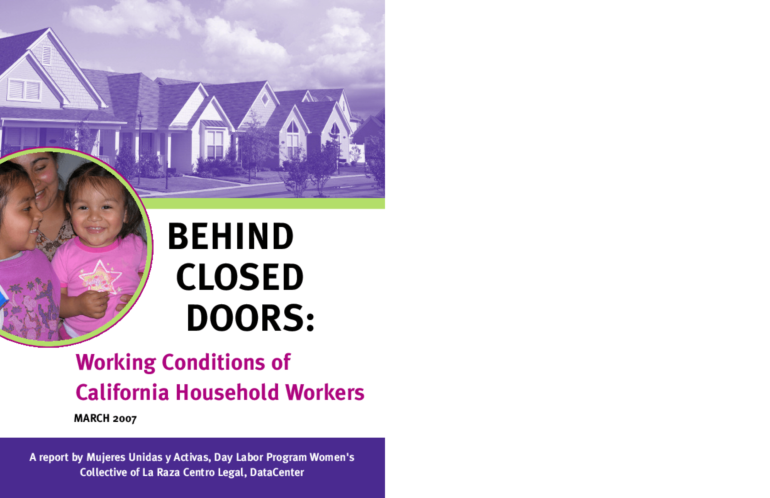Behind Closed Doors: Working Conditions of California Household Workers