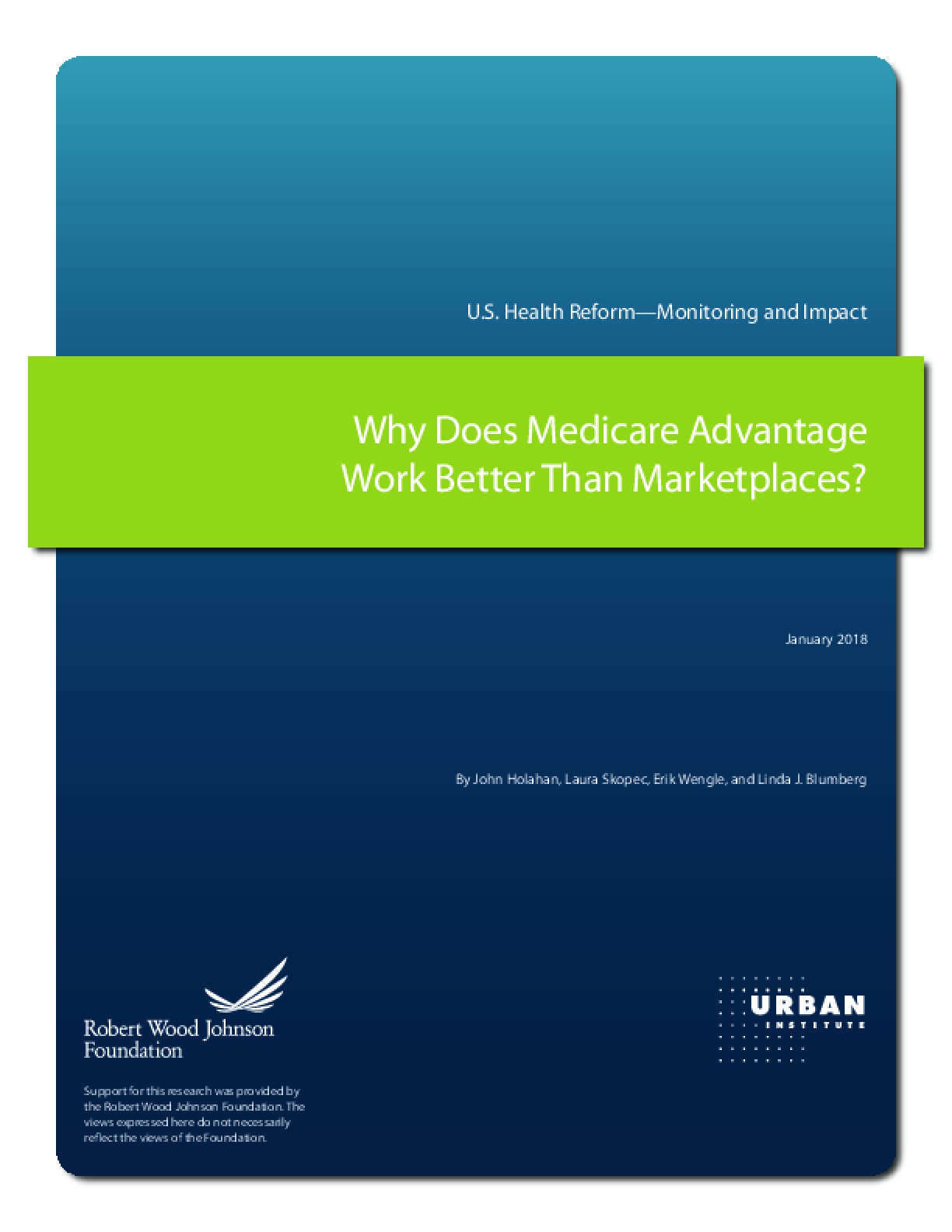 Why Does Medicare Advantage Work Better Than Marketplaces?