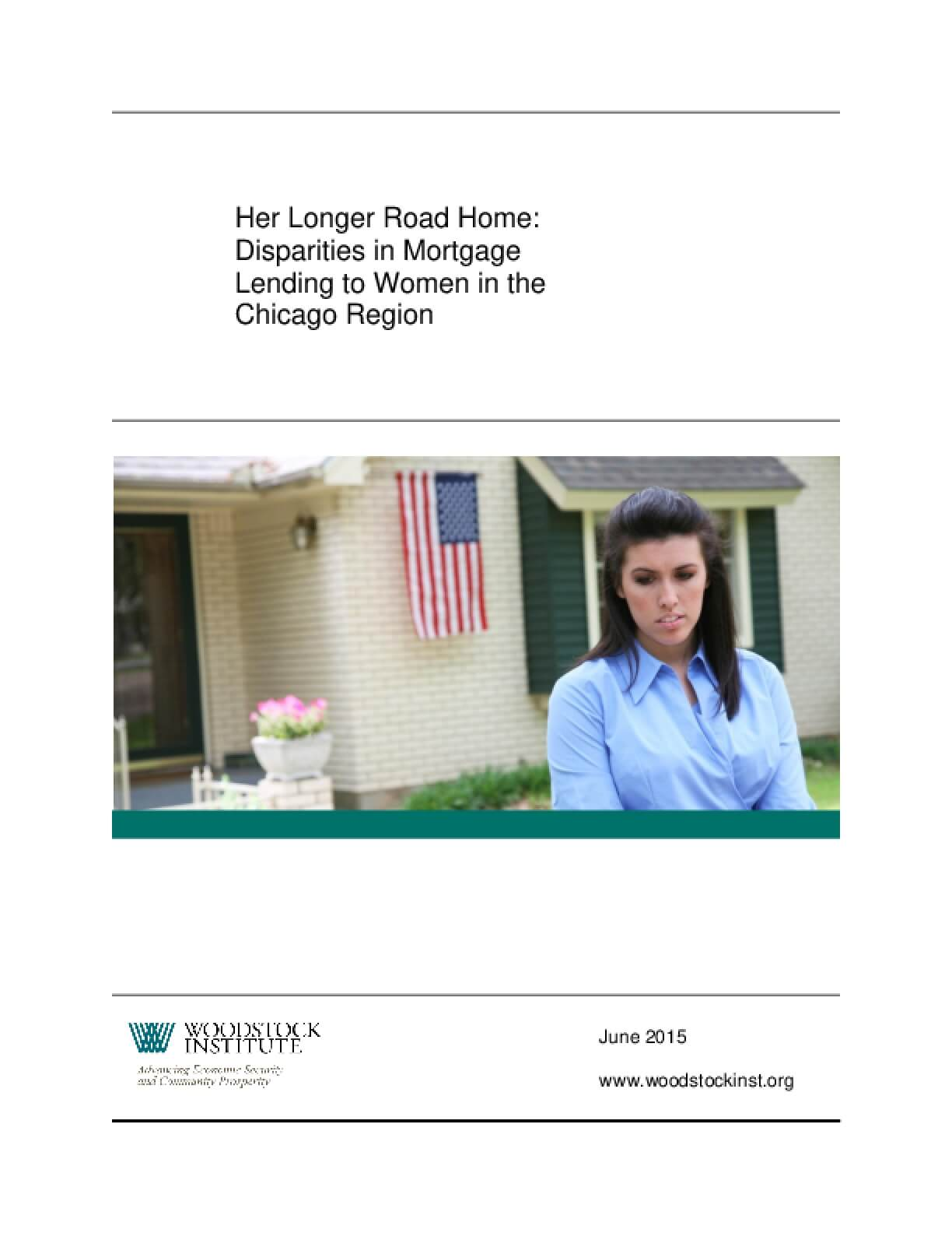 Her Longer Road Home: Disparities in Mortgage Lending to Women in the Chicago Region