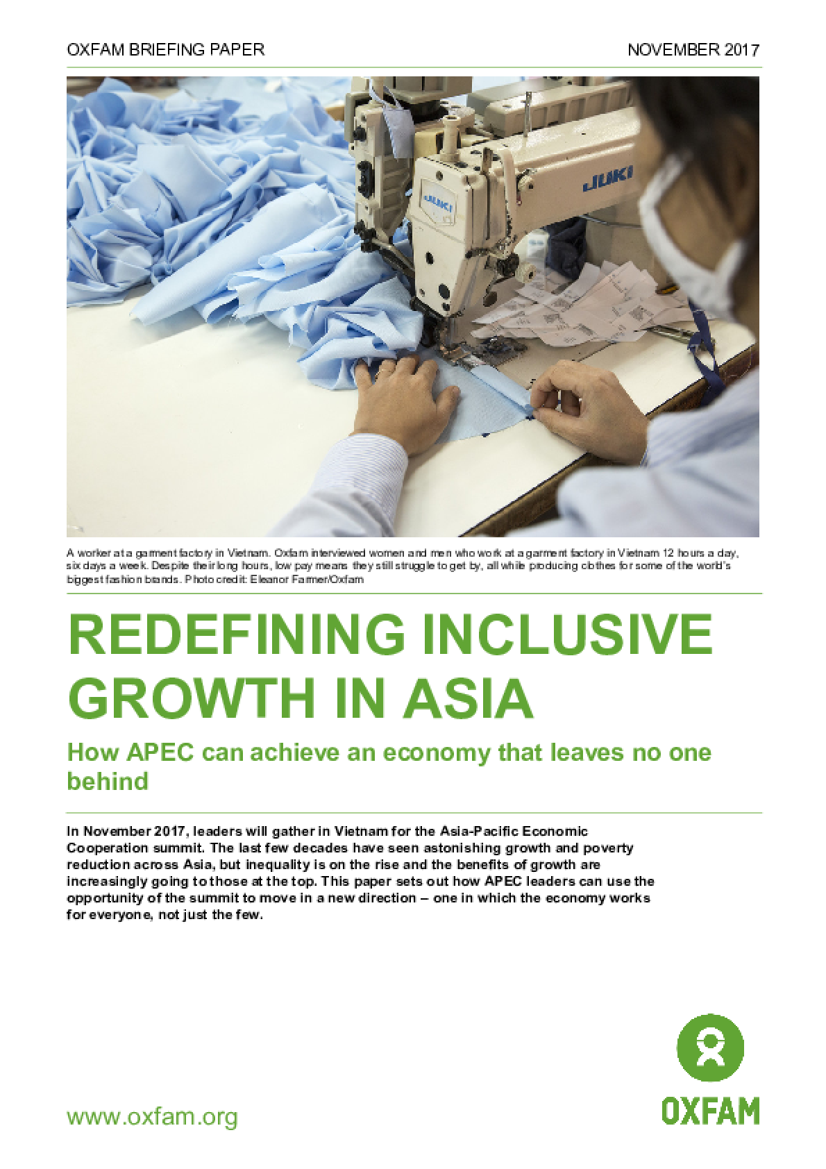 Redefining Inclusive Growth in Asia: How APEC Can Achieve an Economy That Leaves No One Behind