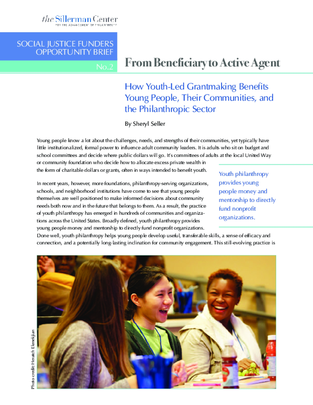 How Youth-Led Grantmaking Benefits Young People, Their Communities, and the Philanthropic Sector