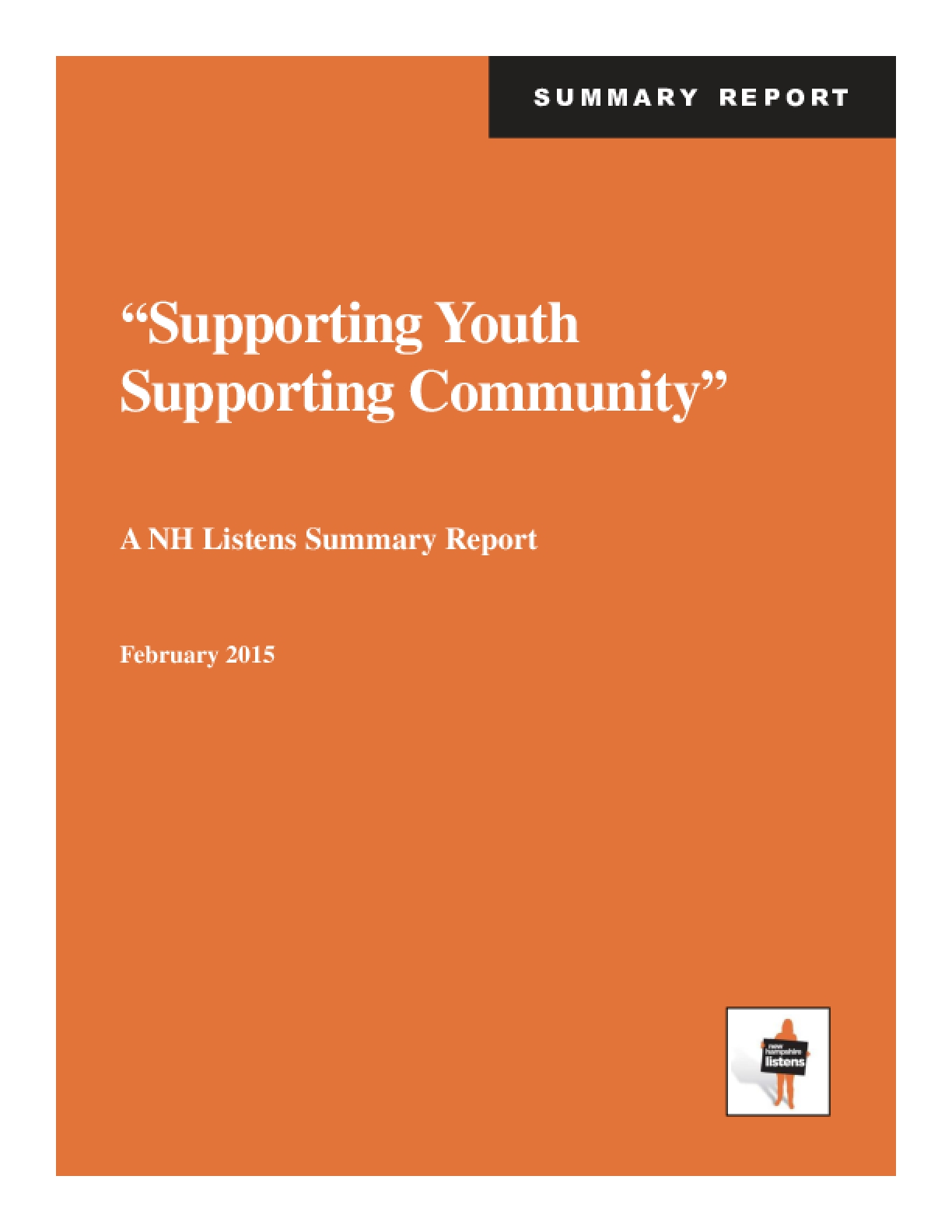 """""""Supporting Youth Supporting Community"""""""