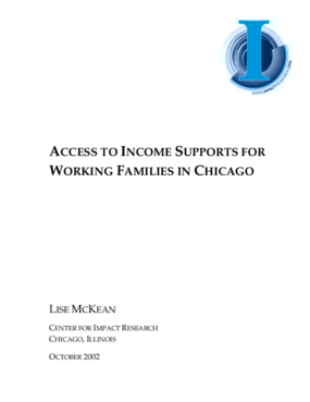 Access to Income Supports for Working Families in Chicago