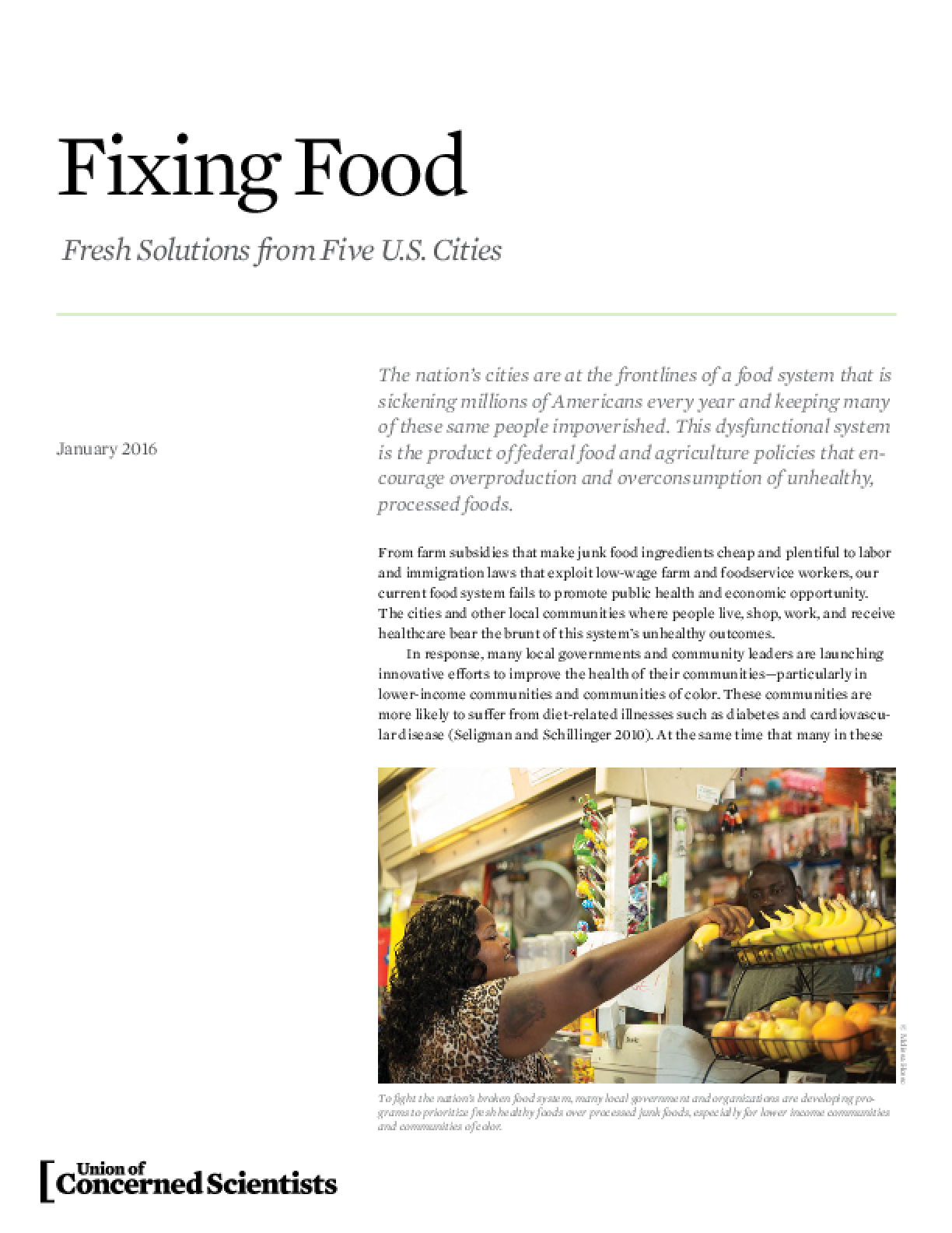 Fixing Food: Fresh Solutions from Five U.S. Cities