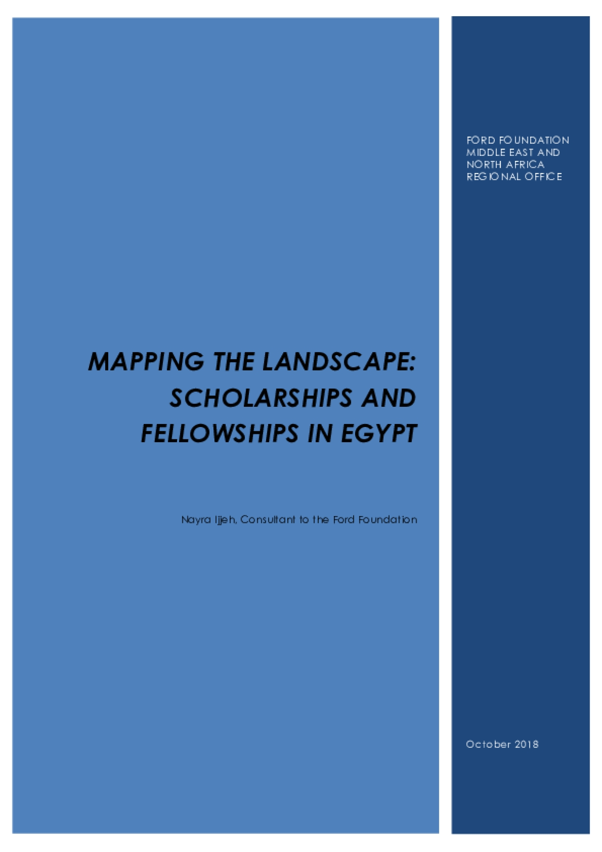 Mapping the Landscape of Scholarships and Fellowships in Egypt