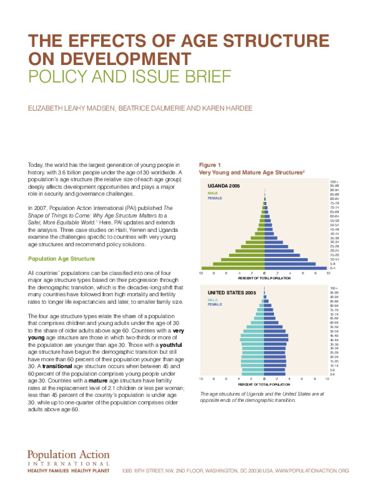 The Shape of Things to Come: The Effects of Age Structure on Development