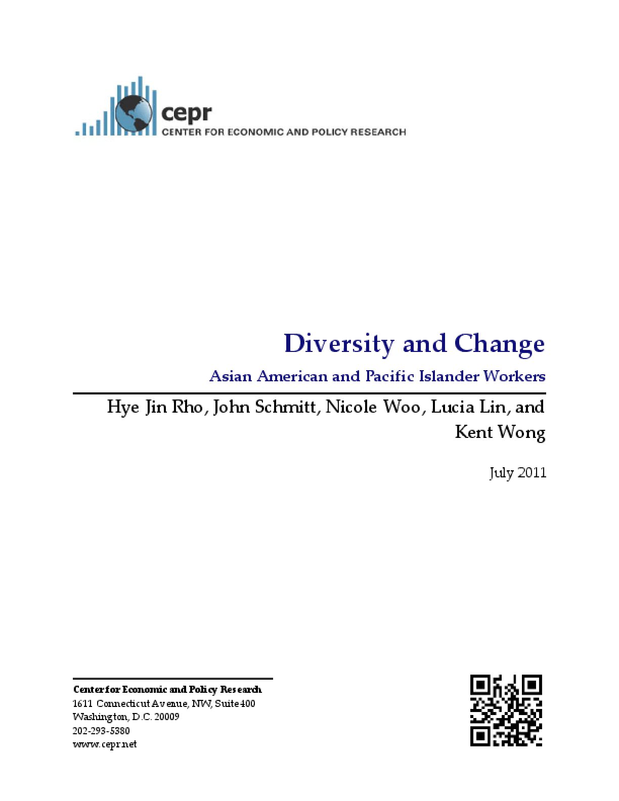 Diversity and Change: Asian American and Pacific Islander Workers