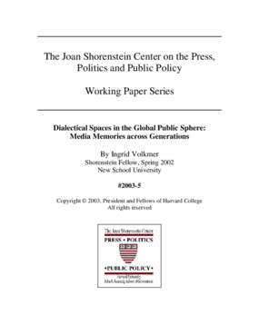 Dialectical Spaces in the Global Public Sphere: Media Memories across Generations