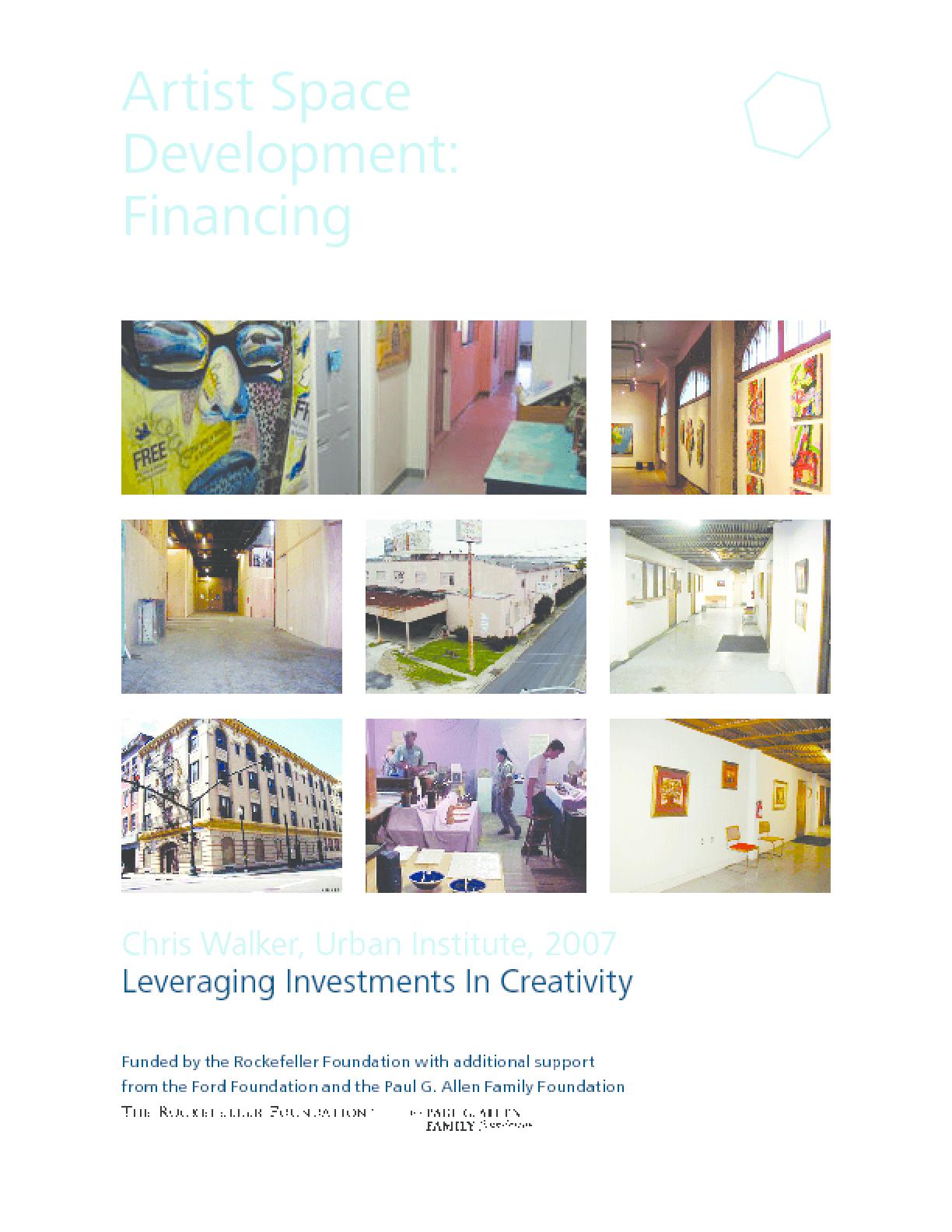 Artist Space Development: Financing
