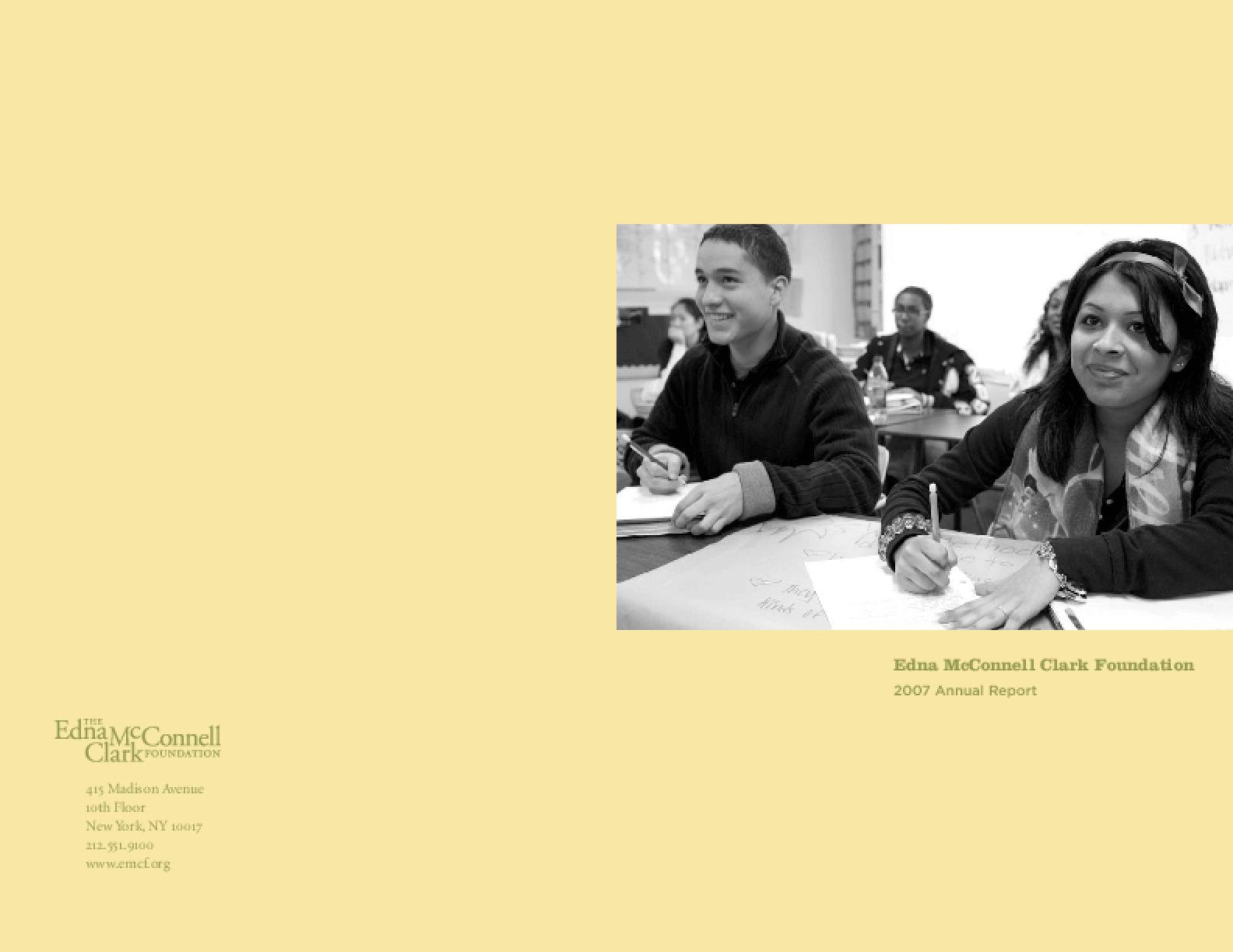 Edna McConnell Clark Foundation - 2007 Annual Report