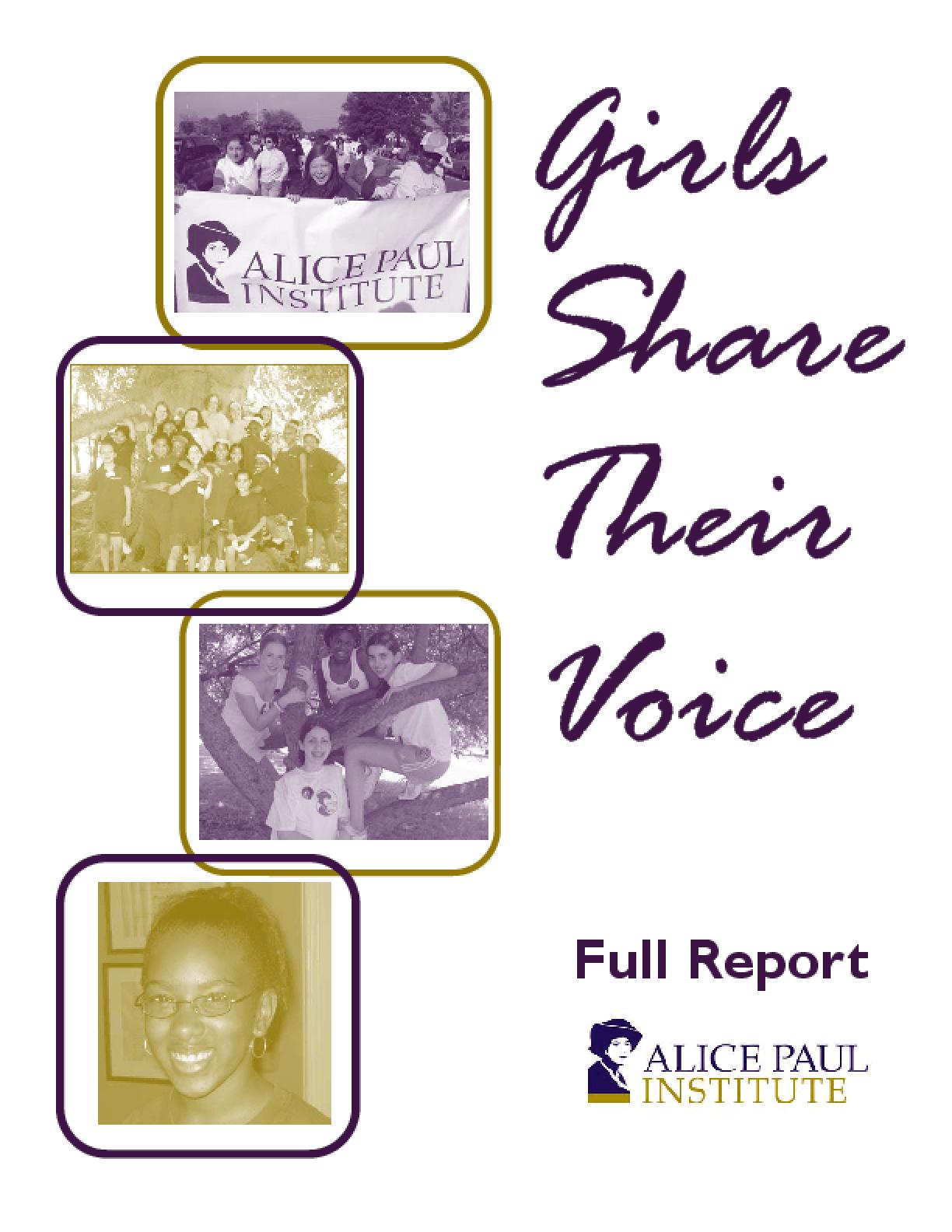 Girls Share Their Voice