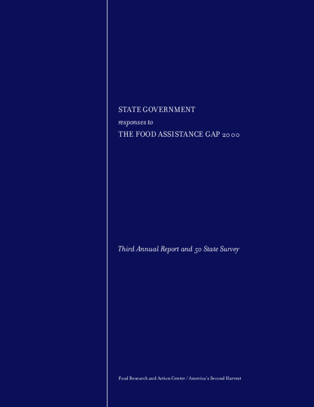 State Government Responses to the Food Assistance Gap 2000